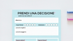 Come prendere una decisione serenamente?