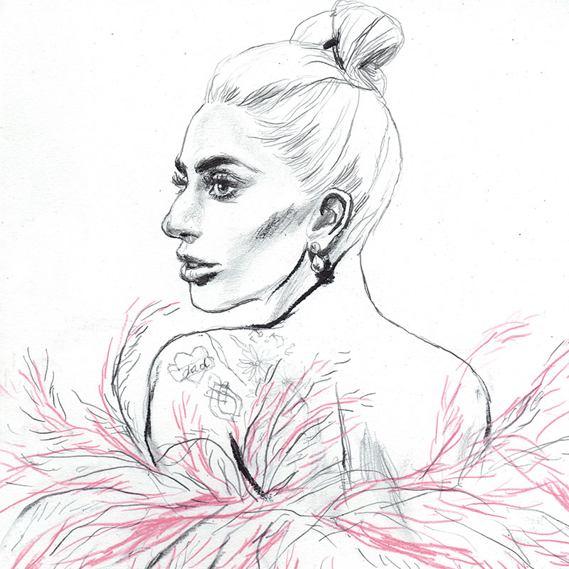 Lady Gaga illustrazione